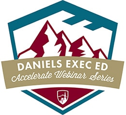 accelerate webinar series, daniels executive education