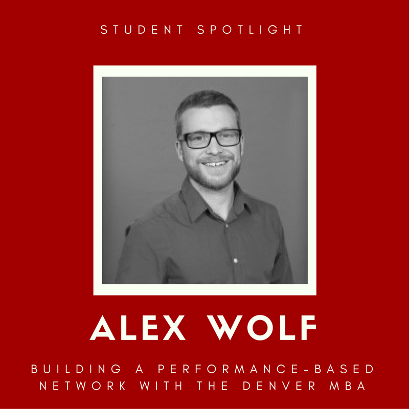 student-spotlight with Alex Wolf at The Denver MBA