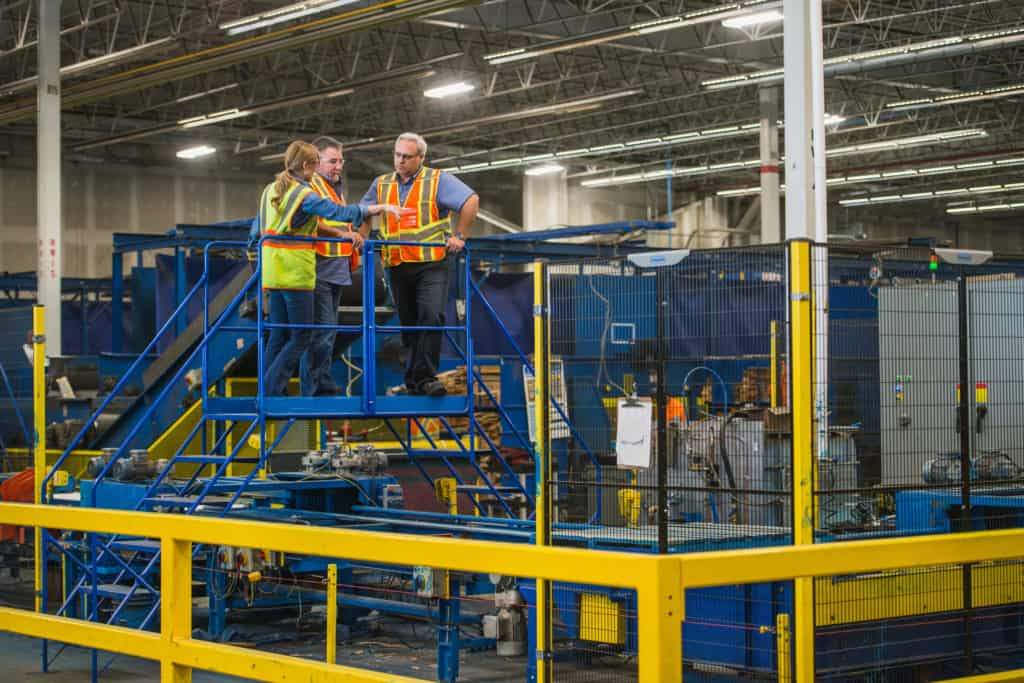 Megan Smith at Calgary warehouse