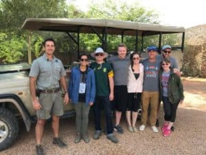 Loren Sjoquist, third from right, with his PMBA cohort in South Africa. (Photo provided)