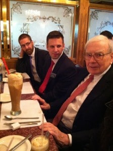 Mr. Buffett and his giant root beer float!